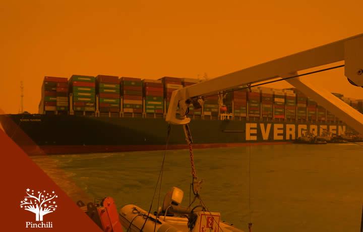 ¡ALERTA! Buque marítimo bloquea el canal de Suez y pone en peligro a toda la economía mundial